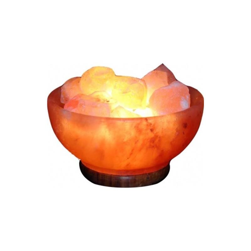 Lámpara Cuenco de Sal del Himalaya