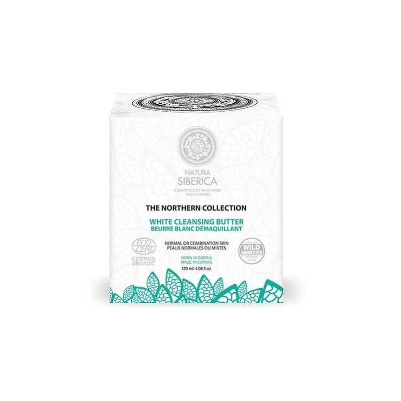 Manteca blanca limpiadora desmaquillante uso diario Natura Sibérica