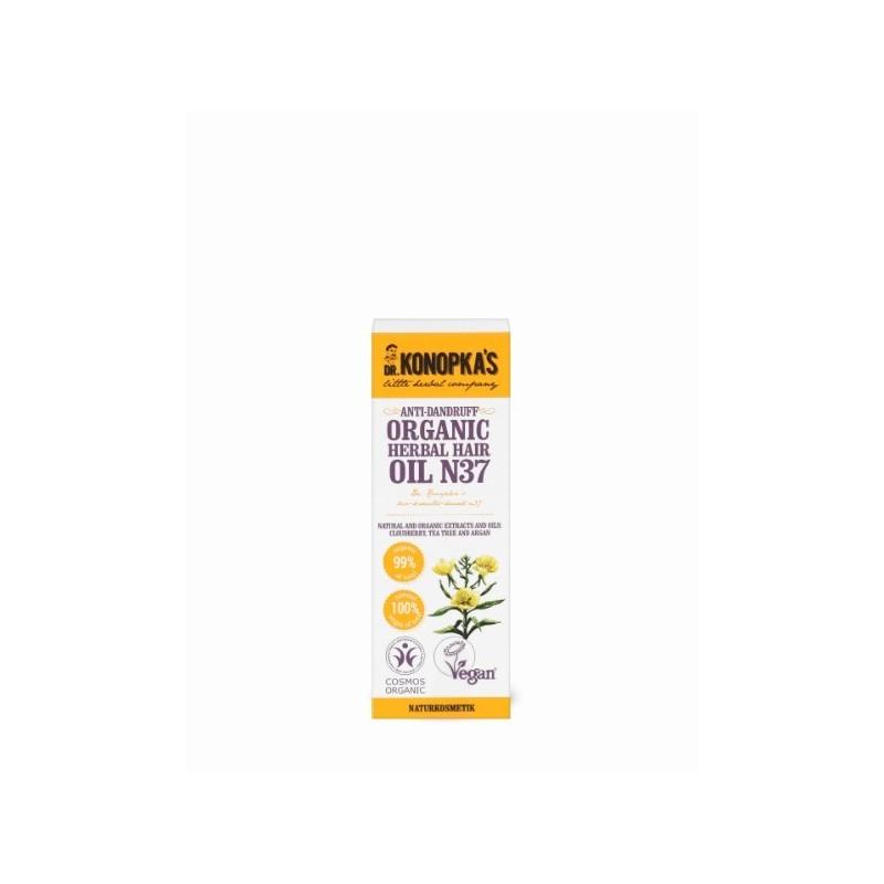 Aceite Anticaspa Orgánico de hierbas para el cabello Nº 37 Dr Konopka's