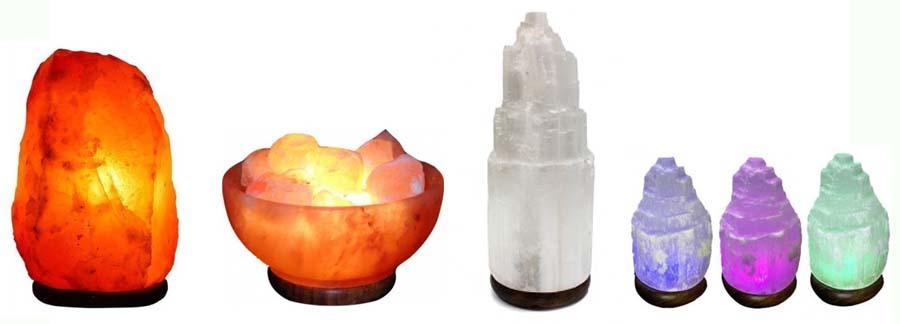lamparas de sal de selenita
